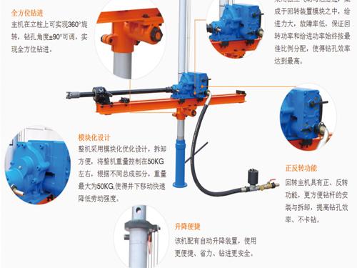 ZQJC气动架柱钻机单立柱